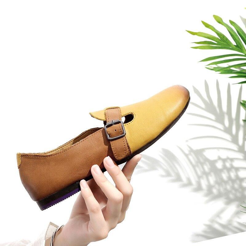c4b1ef5f De Estilo Simple Moda Otoño Suave ¡2018 Zapatos blanco amarillo Planos  Suela Color Casuales Retro Mujer Beige Nueva ...