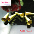 10*23MM Gold/Silver/Rhodium/Bronze Tone Alloy Metal Spring Horn Bead Caps Jewelry Necklace Stoppers Connectors Cord End Findings