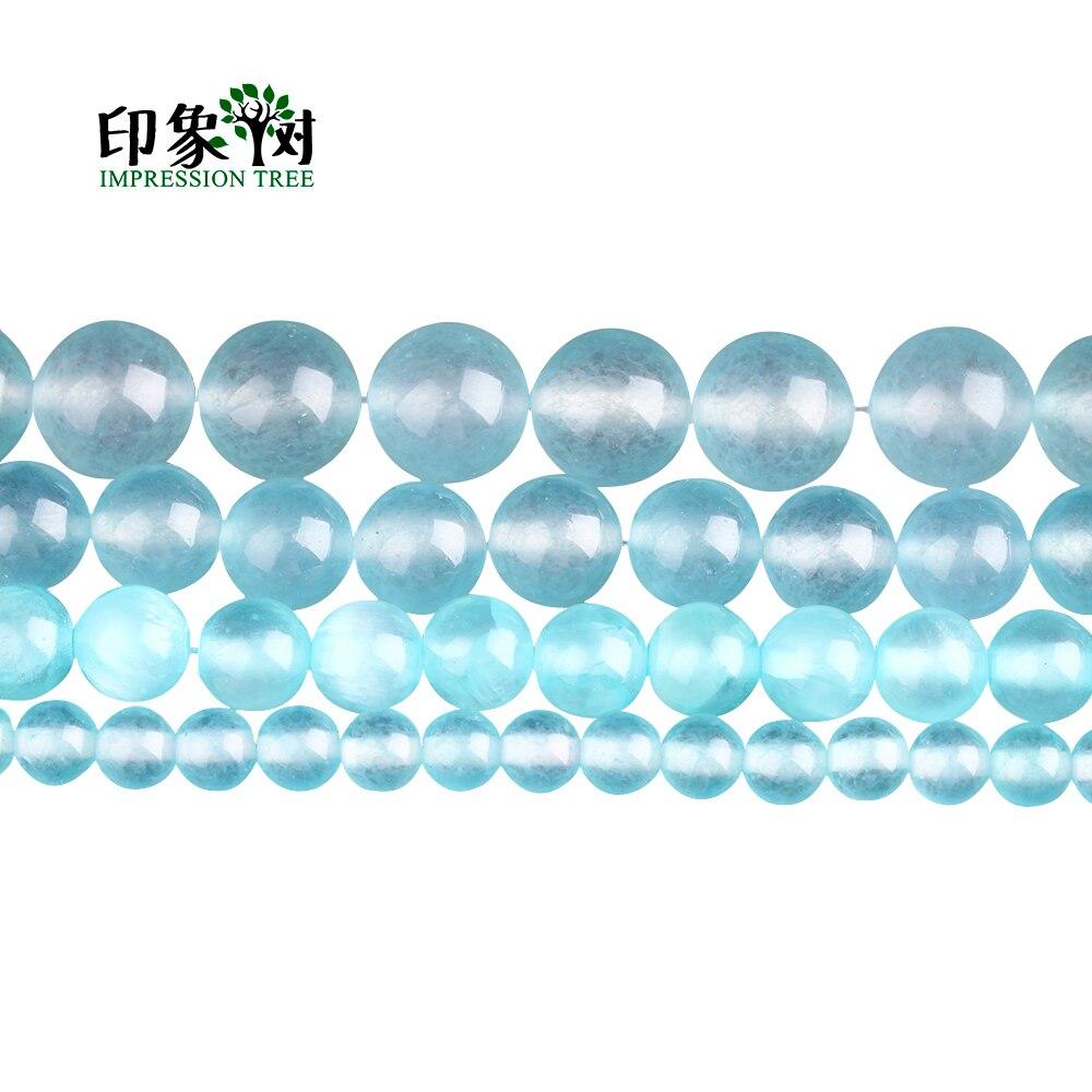 Hell 6/8/10/12mm Pick Größe Glatte Natürliche Edelstein Runde Lose Perlen Blau Aquamarin E Jad E Perlen Fit Diy Neckalce Schmuck Zeug 1856 Moderate Kosten Perlen