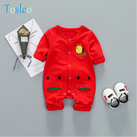 2018 Baby Rompers Spring Autumn Top Quality Baby Clothes Funny Children Rompers Toddler Clothes New Born Rompers Red Blue