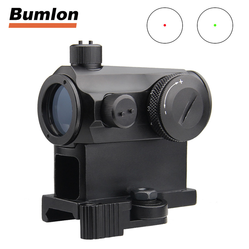Illuminated Sniper Mini 1X24 Red Dot Sight Scope with QD Quick Release Mount Detach Red Dot