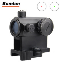 цена на Illuminated Sniper Mini 1X24 Red Dot Sight Scope with QD Quick Release Mount Detach Red Dot sight for Hunting Airsoft 5-0039