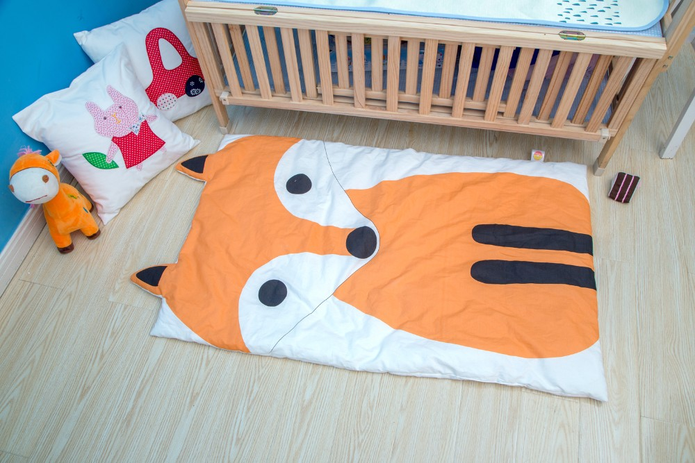 Newborn Baby Blanket Cotton Bedding Animal Print Swaddling Kids Summer Quilt Infant Rug Floor Playing Carpet Mats