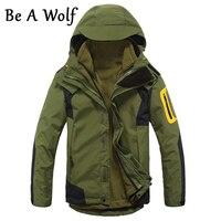 Be A Wolf Hiking Jacket Men S 2 In1 Inner Fleece Waterproof Outdoor Sports Warm Coat