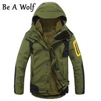 Be A Wolf Hiking Jacket Men S 2 In1 Inner Fleece Waterproof Outdoor Sports Warm Coat