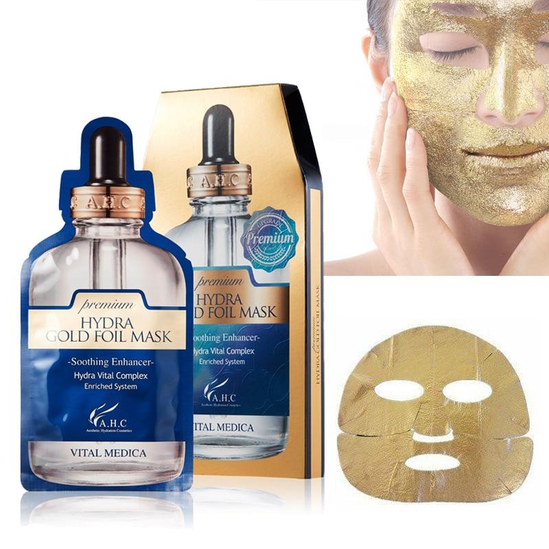 AHC Premium Hydra Gold Foil Mask 25g X 5pcs Anti Wrinkle Face Lifting Ageless Facial Mask