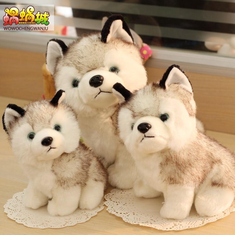 Simulation Huskies Cute Dog Doll Plush Toy Doll White Papa Dog Doll Birthday Gift Girl
