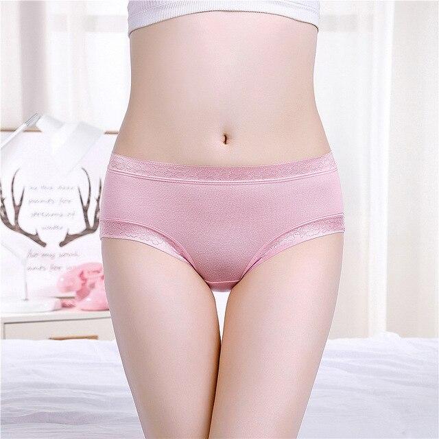 TWTZQ Hot Sale High Quality Soft Underwear Women Panties Comfortable Cute  Pink Girl Sexy Panties Bamboo Fiber Briefs 2NK025 2cc220863