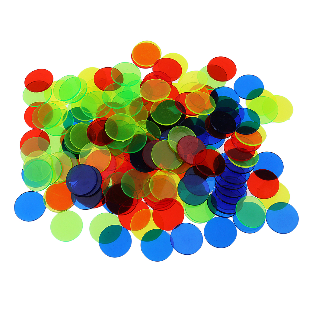 100pcs Plastic Bingo Chips Circle Board Game Accessories Tokens Coins Party Club Family Games Supplies