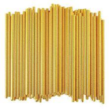 Соломинки из золотой фольги, биоразлагаемые одноразовые трубочки для питья на вечеринке, упаковка из 100 праздничных торжеств