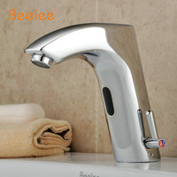 Bathroom Sink Faucet Brass finish with Automatic Sensor (Hot and Cold)(QH0112BA)