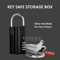 New Key Safe Box With Combination Lock Spare Key Safe Storage Organizer Box 4 Digital Password