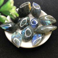 11pcs/lot Natural Beautiful Labradorite Slice Gemstone Slice Pendant Crafts DIY Crystals for Crafts