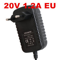 10PCS New 20v1.2a switching power supply LED lamp power supply 20 v power supply 20v 1.2A 1200mA power adapter EU plug