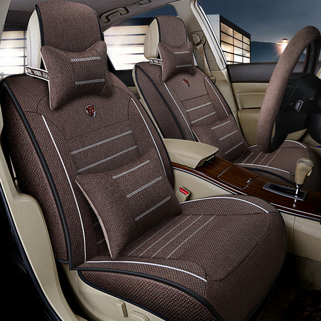 Awe Inspiring Us 70 98 58 Off Flax Car Seat Covers Full Surrounded Seat For Toyota Volkswagen Suzuki Kia Mazda Mitsubishi Audi Nissan Seat Cushion Car Styling In Machost Co Dining Chair Design Ideas Machostcouk