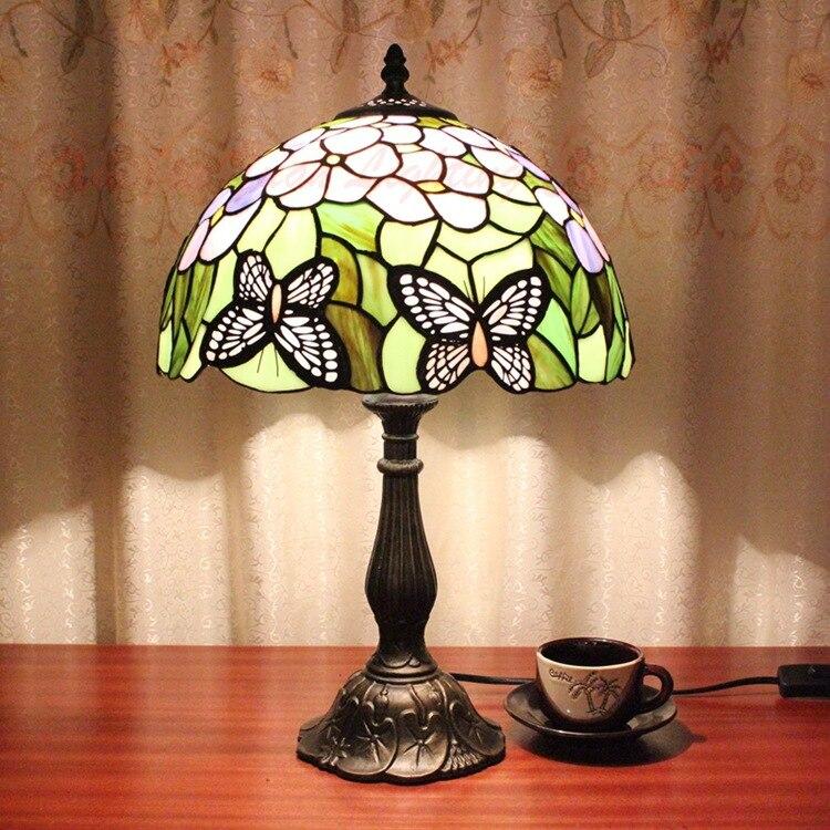 Американский Пастырское Ретро Тиффани барокко сердце арт спальня ночники отель Cafe лампа 12 дюймов