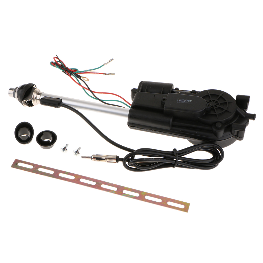 Universal Car Antenna Electric Power Auto Aerial Auto AM FM Radio Kit 12V Kit de antena trousse d 39 antenne Auto Replacement Parts in Aerials from Automobiles amp Motorcycles
