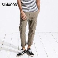 SIMWOOD 2020 חדש אביב מכנסיים מטען גברים קרסול אורך היפ הופ מסלול דק מכנסיים בציר כיסי בגדים באיכות גבוהה 180329