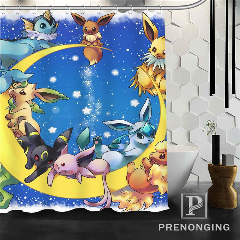 Personalized Custom Pokemon Shower Curtain Home Decor Bathing Curtains Cloth Waterproof Polyester S171218 18