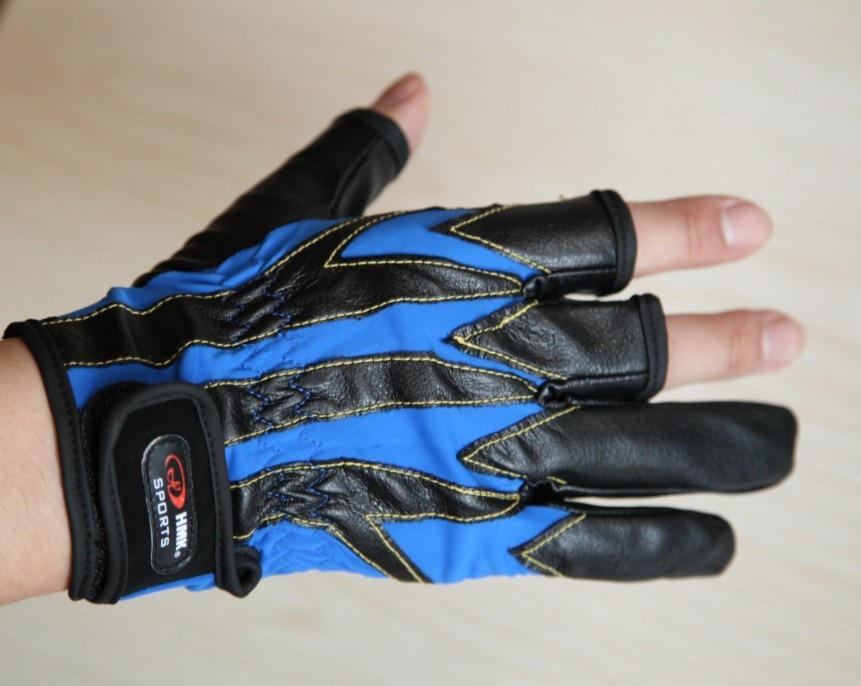 Fingerloser Fischen-im Freiensport-Handschuh bequemes PU drei - Angeln - Foto 2