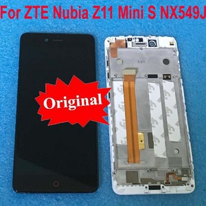 Image 1 - Original For ZTE Nubia Z11 MiniS NX549J LCD Display Touch Panel Screen Digitizer Assembly with Frame For Z11 mini S Sensor