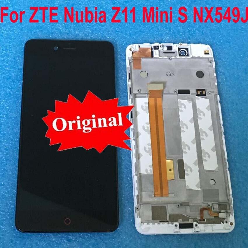 Original Para ZTE Nubia Z11 NX549J MiniS Tela Do Painel de Display LCD de Toque Digitador Assembléia com Quadro Para Z11 mini S sensor de
