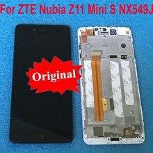 Originele Voor ZTE Nubia Z11 MiniS NX549J LCD Touch Panel Display Screen Digitizer Vergadering met Frame Voor Z11 mini S sensor