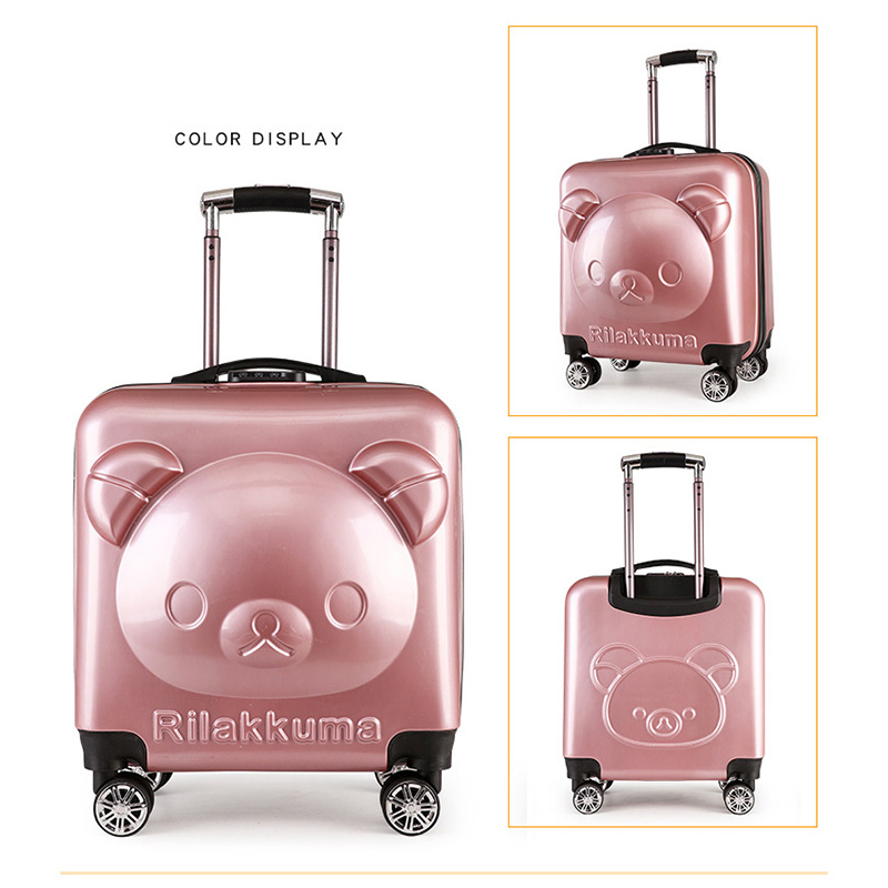18/20 inch PC+ ABS girl cartoon Pull rod box trolley case 3D child Travel luggage anime suitcase kids Boarding box with wheel 21 inch students scooter suitcase boy cool trolley case 3d extrusion high quality pc separable travel luggage child boarding box