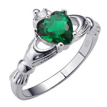 Hot Sale Exquisite Simulated Emerald 925 Sterling Silver High Quantity Ring Beautiful Jewelry Size 5 6 7 8 9 10 11 12 F1525(China)