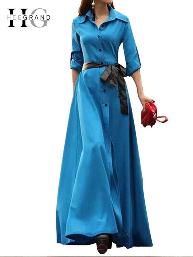 Mujeres Fajas De Primavera Tamaño Largo Línea Fiesta Hee Vestido Piso Gran Maxi 2018 Las Plus Wql1476 Vestidos Black Slim blue Con qvXqzwTx