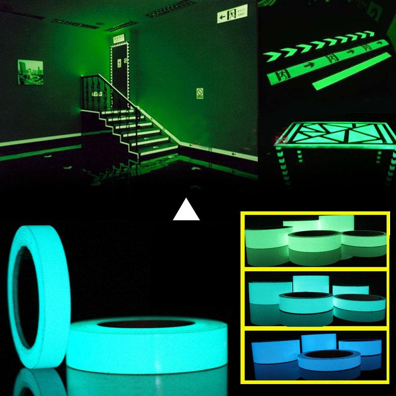 Roadway Safety Reflective Material Reflective Luminous Tape Self-adhesive Glow In Dark Sticker For Exit Sign Walls Safety Stage Night Vision Home Decoration Tape