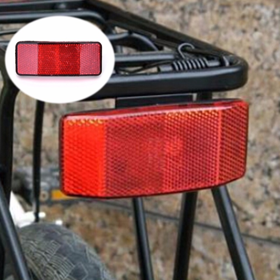 Bicycle Bike Safety Caution Warning Reflector Disc Rear Pannier Racks HK