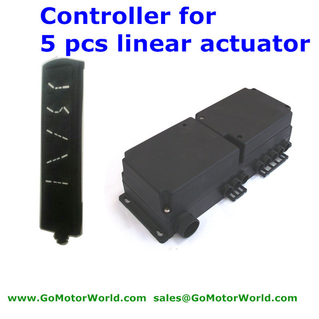 US $122 61 |Industry controller Control box 110 240V AC input 24V DC output  with wire hand switch to opearate 5pcs linear actuator-in Motor Controller