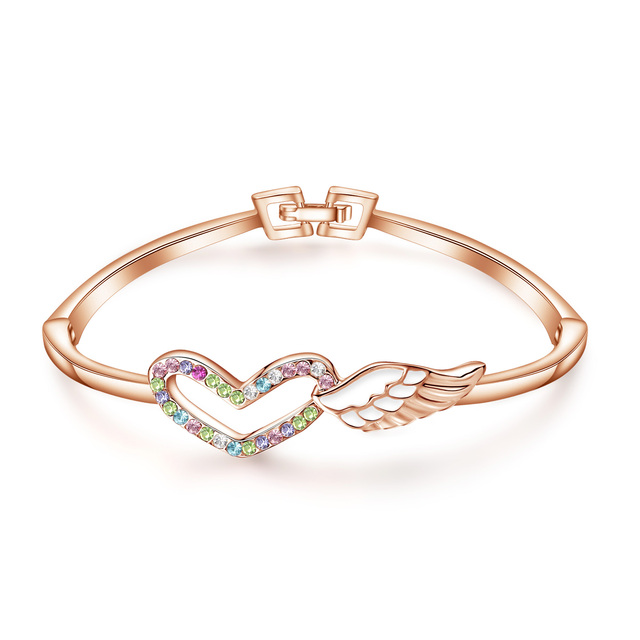 Rose Gold Bracelet Inlaid...
