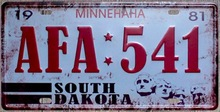 1 pc South Dakota US Car License USA American Minnehaha Tin Plates Signs wall man cave Decoration Metal Art Vintage Poster