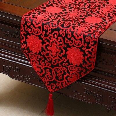 Luxury Floral Chinese Silk Table Runner Wedding Wedding Rectangle - Տնային տեքստիլ - Լուսանկար 3