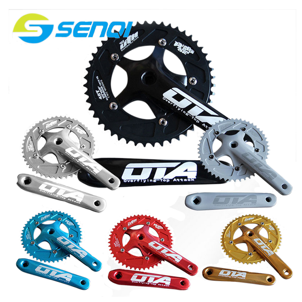 Bicycle Chain Wheel Fixed Gear 48T Aluminum Alloy CNC Cycling Racing Bike Accessories With Crank 1set front and rear 700c road bike wheel bicycle magnesium alloy three spokes parts integrated wheel fixed gear single speed