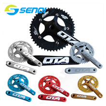 цена на Bicycle Chain Wheel Fixed Gear 48T Aluminum Alloy CNC Cycling Racing Bike Accessories With Crank