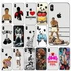 ✔  Тайский бой стиль бокса Тонкий телефон Cear iPhone XS Max 8 8Plus 7 6 6SPlus SE 5S X Личность Бокс  ①