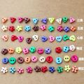 Mixed Colors Shapes DIY Candy Color Handmade Patchwork Cloth Button Doll Clothes Decoration Mini Buttons Fasteners 200pcs/lot