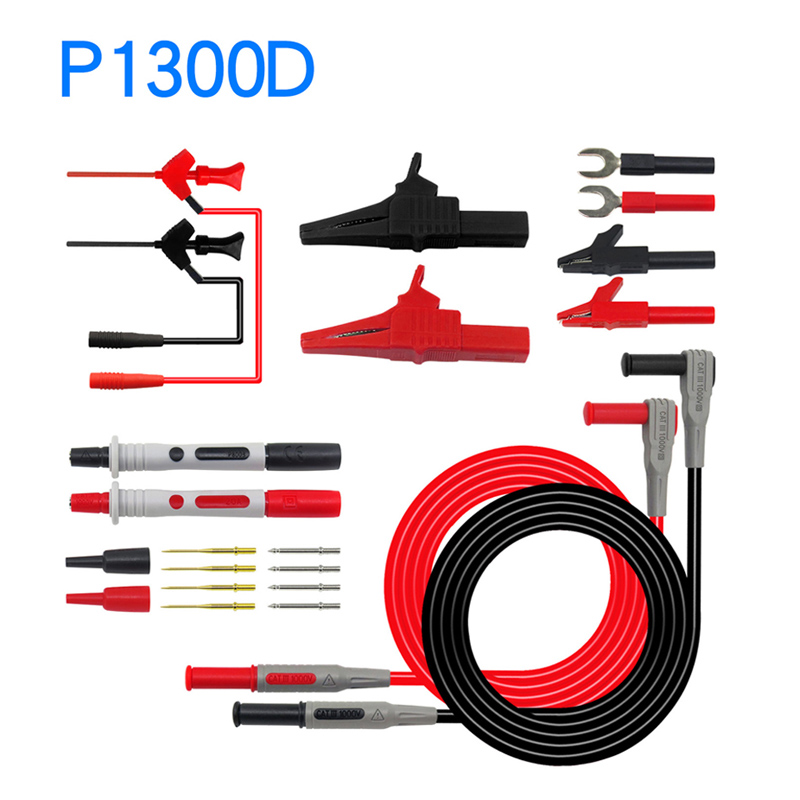Image 2 - Cleqee Multifunctional Multimeter Probe Kit Piercing IC Test Hook Lead Needle 4mm Banana Plug Alligator Clip stick Clamp-in Instrument Parts & Accessories from Tools