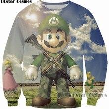 PLstar Cosmos Women Men Cartoon Sweatshirt 3D Print Game Super Mario Kart Wear Uniform Hoodies Cool Casual Loose Sweatshirts 5XL