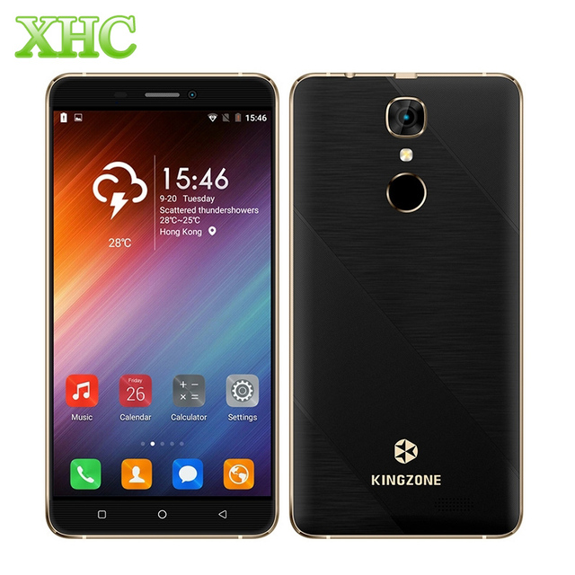 KINGZONE S20 Fingerprint Id Smartphone 3000mAh 2GB +16GB 5.5 inch Android 6.0 MTK6580A Quad Core 1.3GHz WCDMA 3G Mobile Phone