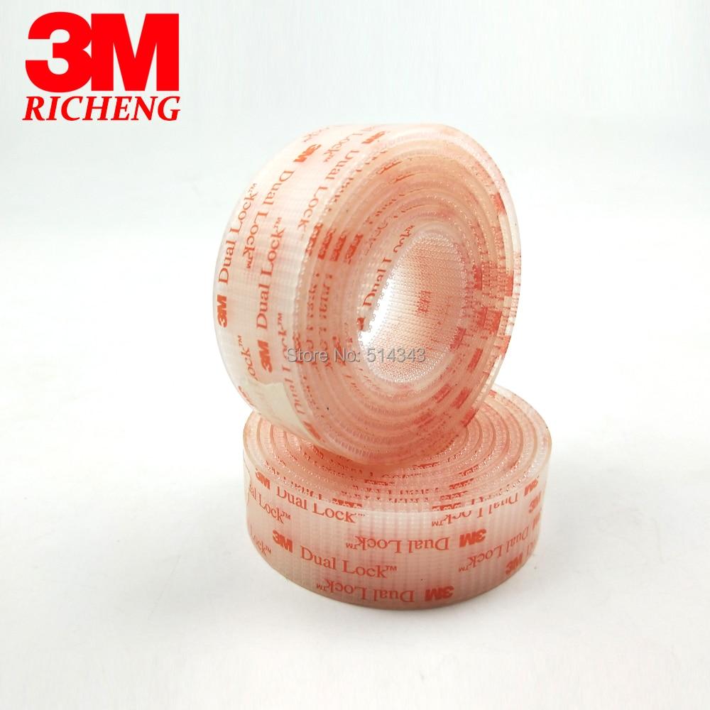 25.4mm x 1m 3M SJ3561 Dual Lock Clear Mushroom Fastener adhesive tape Type 400 3M tape25.4mm x 1m 3M SJ3561 Dual Lock Clear Mushroom Fastener adhesive tape Type 400 3M tape