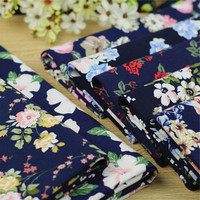 2018 Silk Fabric Algodon Para Patchwork Free Shipping In The New Cotton Rural Floral Printed Clothing Diy Craft Cloth Fabric