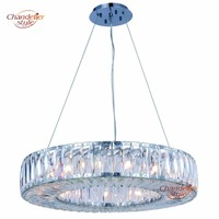 Modern Halo Crystal Chandelier Lamp Light Lighting Luxury Round Chandeliers Hanging Fixtures For Home Restaurant Dining
