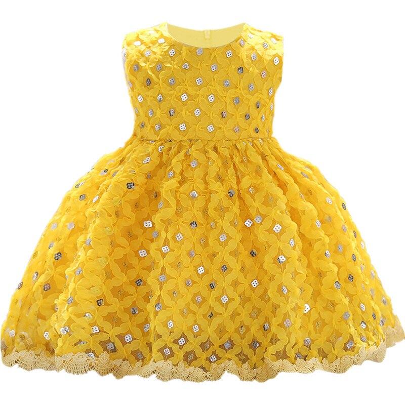 75ced3beac0a7 Été bébé filles nouveau-né robe pour baptême 1 année infant toddler ...