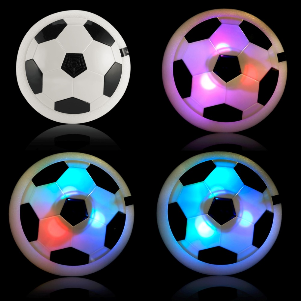 1 pieces Air Power Soccer Hover Ball Colorful Disc Hovering Gliding Ball Football Toy Multi-surface Hovering Gliding Outdoor Toy