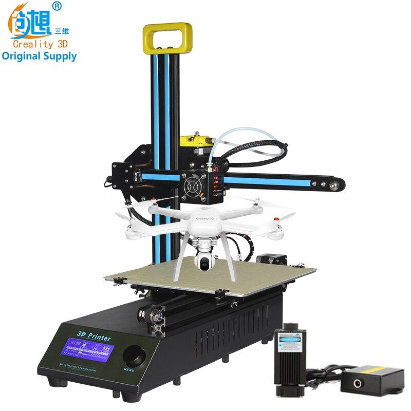 Creality 3D дешевые 3d Цвет мини лазерная гравировка машины CR-8 3D-принтеры DIY Kit металлический легко собрать с бесплатной нити Подарок