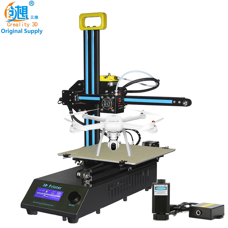 Creality 3D Cheap 3D Color mini laser engraving machine CR-8 3D Printer DIY Kit Full Metal Easy Assemble With Free Filament Gift creality 3d printer full metal auto leveling ender 4 core xy printer with filament monitoring laser head 3d printer diy kit